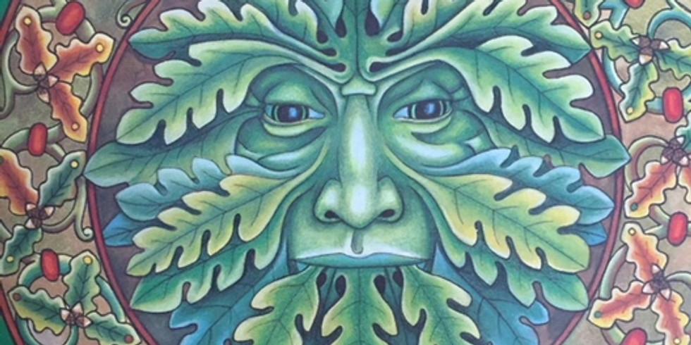 Green Man Mandala @ Tisa Gallery