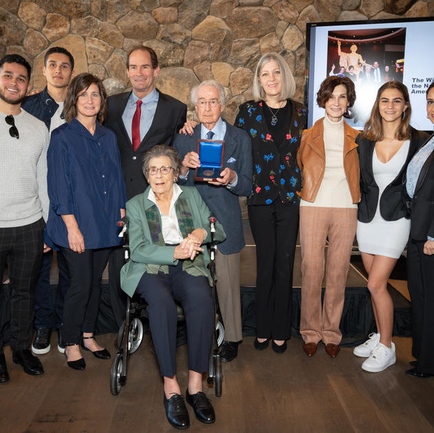 The Winiarski Family and Dr. Anthea M. Hartig, Elizabeth MacMillan Director of the National Museum of American History at the James Smithson Bicentennial Medal Award Ceremony