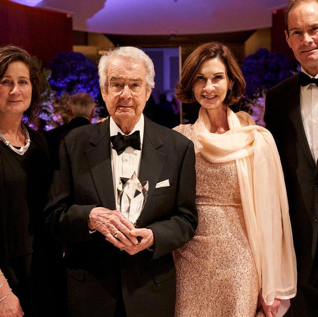 Warren Winairski and his children at the 2019 Wine Enthusiast Wine Star Awards