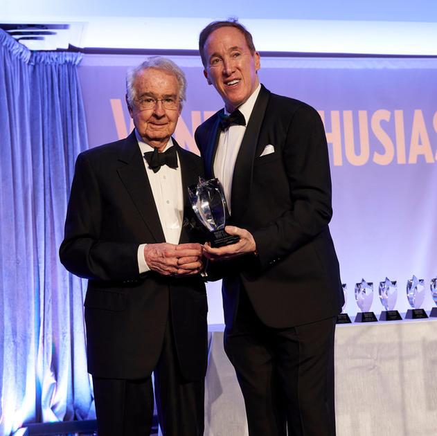 Warren Winiarski with Adam Strum of Wine Enthusiast at 2019 Wine Star Awards