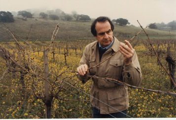 Warren Winiarski tending to vines