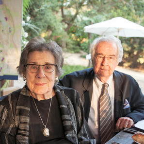 Warren and Barbara Winiarski at the Acre by Acre, Land Trust of Napa County, award ceremony in 2017