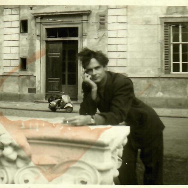 Warren Winiarski in Florence Italy 1953
