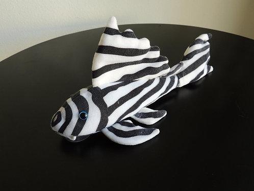"Zebra Pleco Stuffed Plushie (12"")"