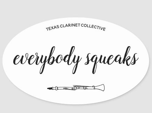 """Everybody Speaks"" White Oval Sticker"