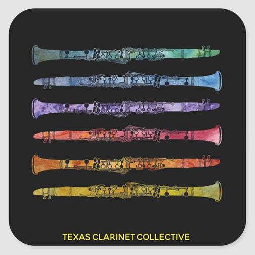 Texas Clarinet Collective Logo Sticker