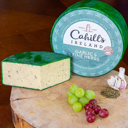 Cahills Irish Cheddar With Garlic And Herbs