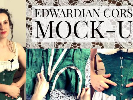 "VIDEO: ""Edwardian Corset Making Part 1: Mock-up"""