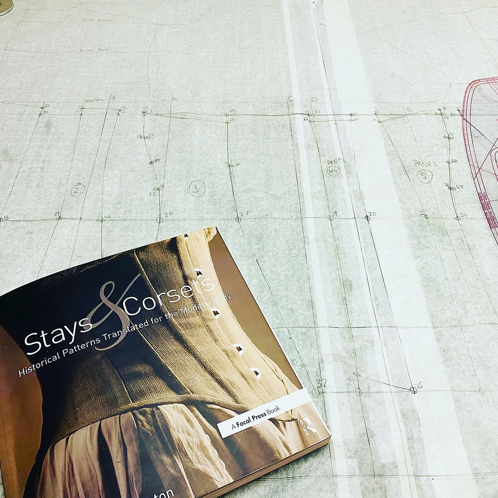 drafting corset pattern stays and corsets mandy barrington