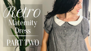 Retro Maternity Dress | Part 2: The Sewing