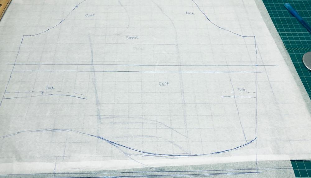 Eighteenth Century Sleeve Pattern
