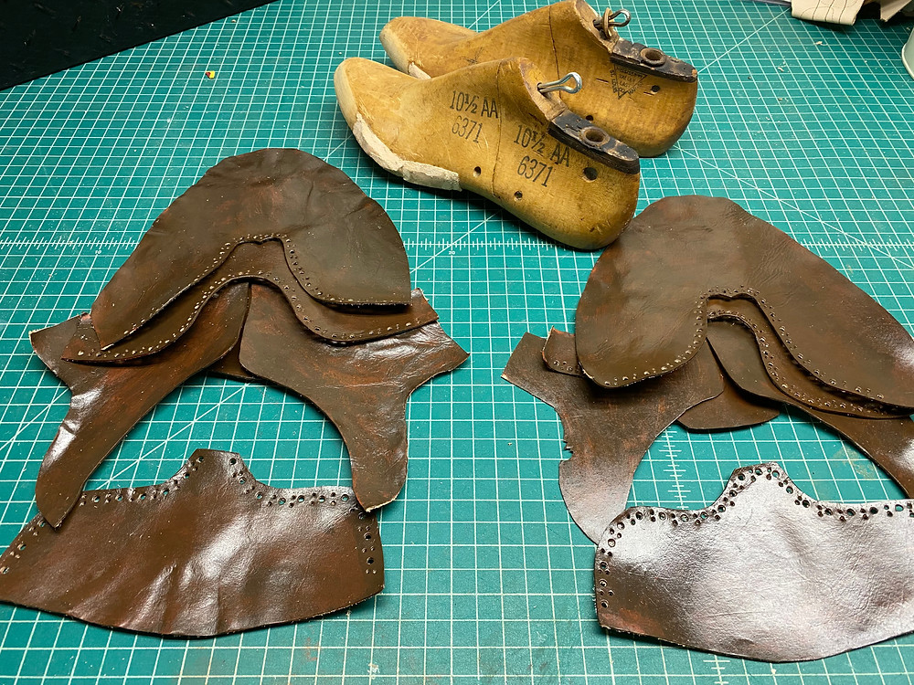 shoemaking leather pattern shoes diy