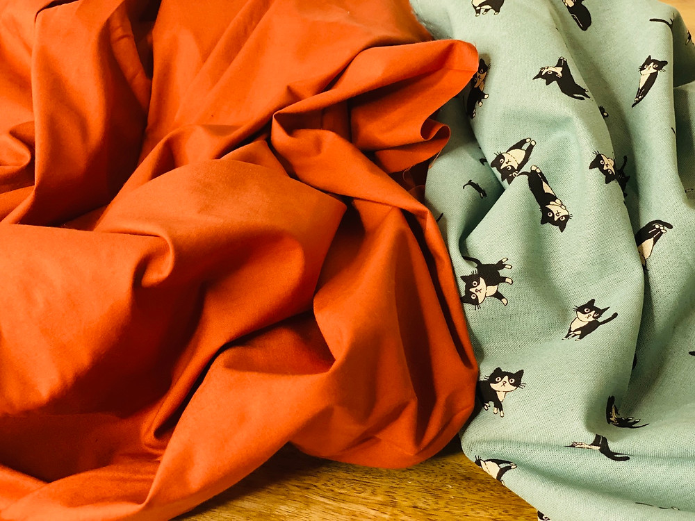 circle skirt burnt orange modes4u poplin cotton self drafted a line gores knee length queens gambit fifties kawaii