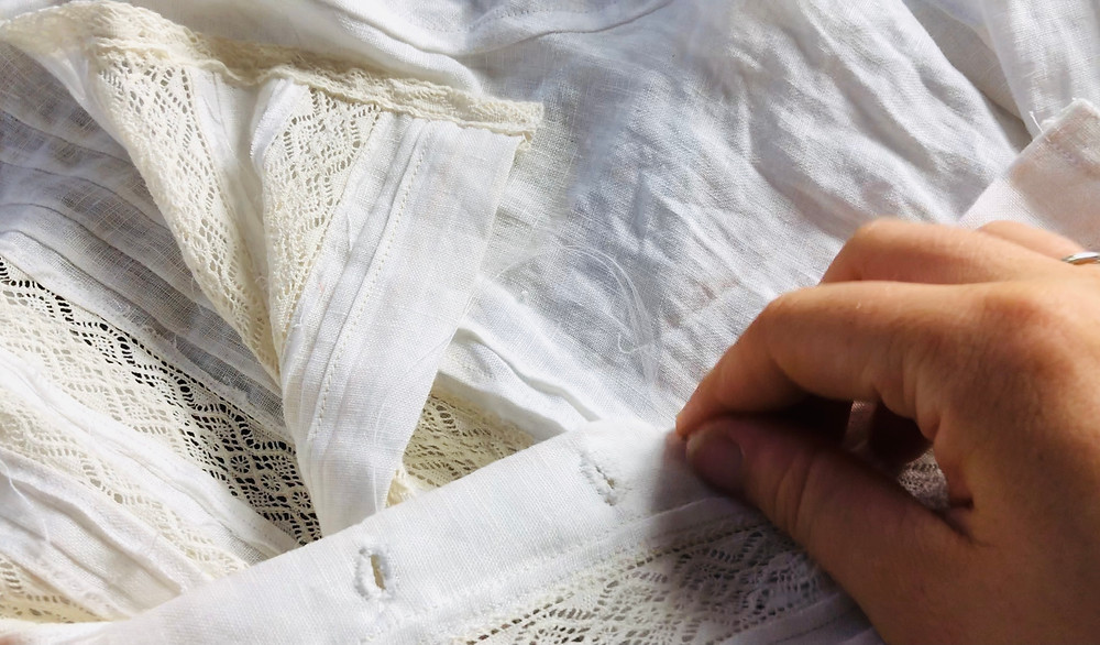 Sewing Edwardian blouse