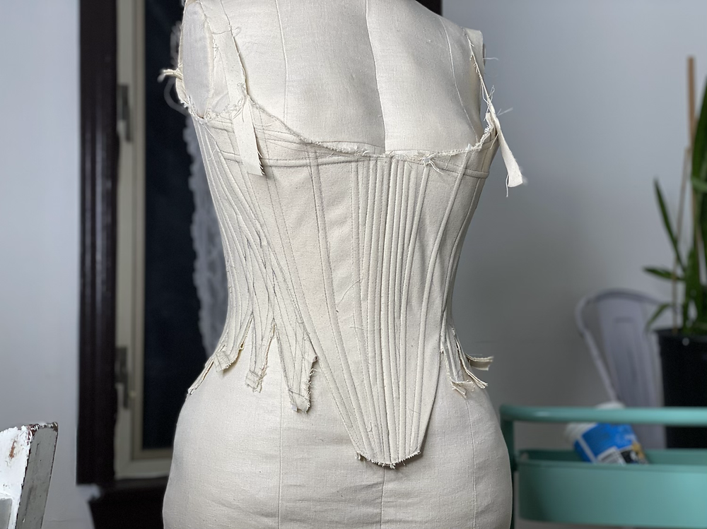 18th century stays pattern draping bodice dress form corset