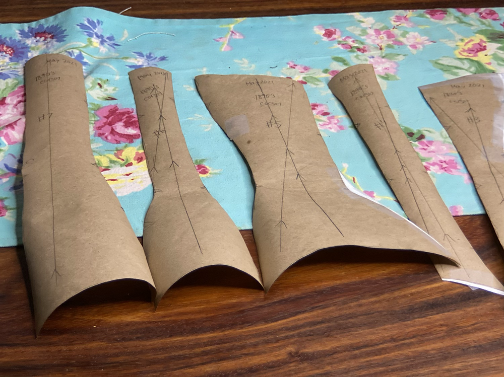 drafting corset making self drafted historical sewing victorian