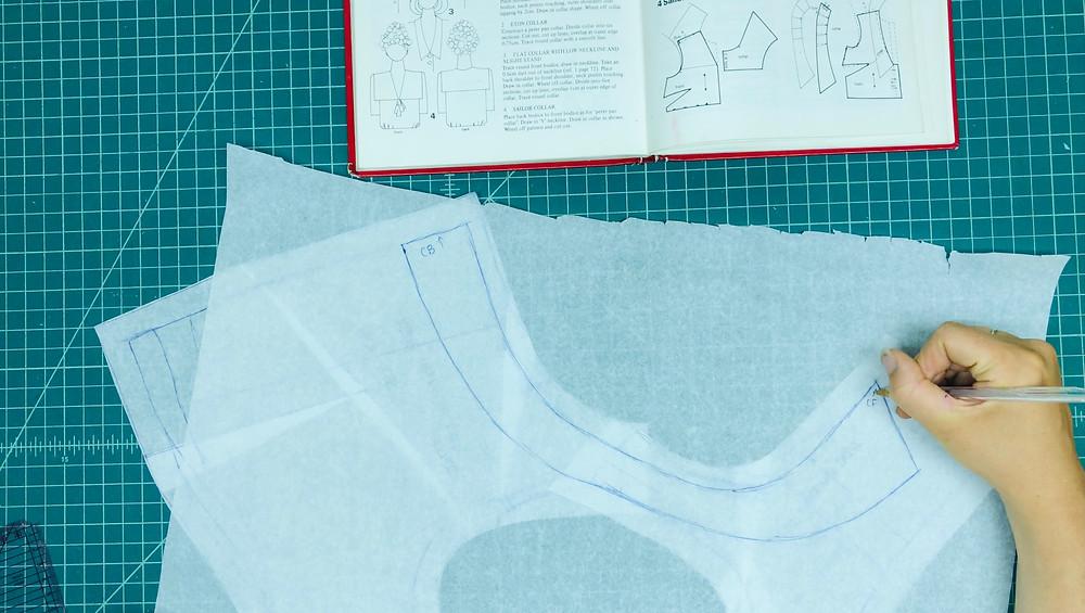 Retro Maternity Dress Collar