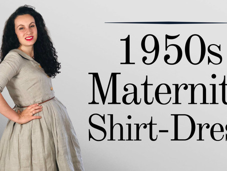 Making a Fifties Maternity Shirt-Dress | Fit and Flare, Collar  & Pleated Skirt