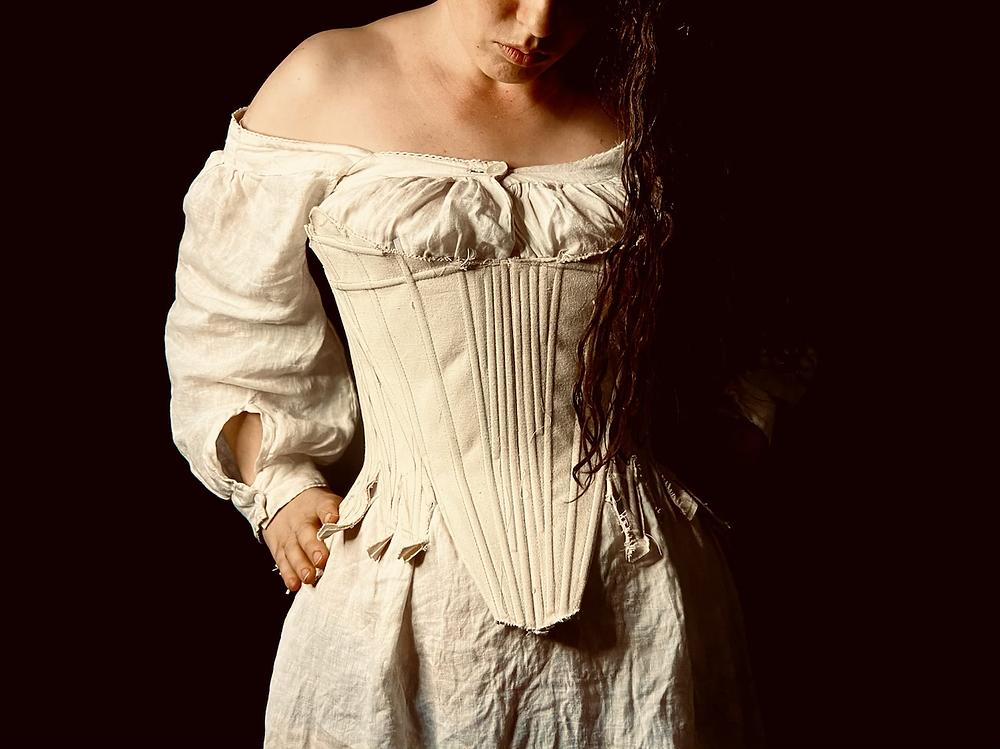 stays mock-up corset 18th century