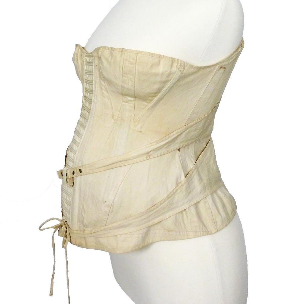 victorian maternity corset historical comfy white pregnancy