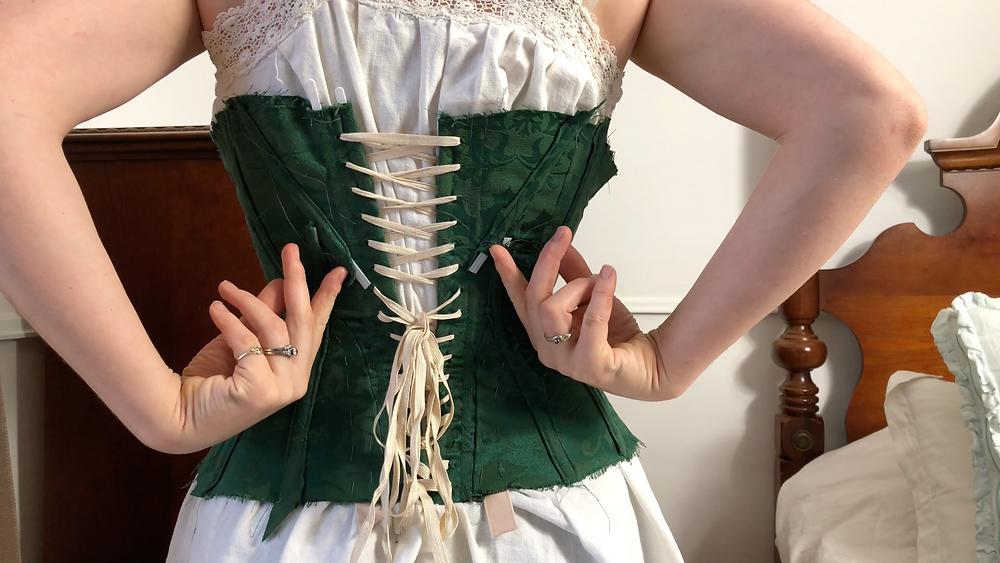 corset, corsetry, mock-up