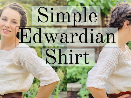Making a Simple Edwardian Blouse
