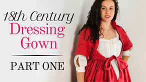 Making an 18th Century Dressing Gown | Pattern Drafting