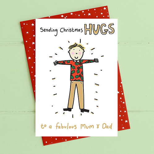 Christmas hugs for Mum and Dad
