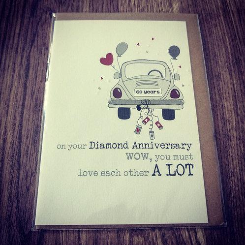 Car Diamond wedding anniversary card