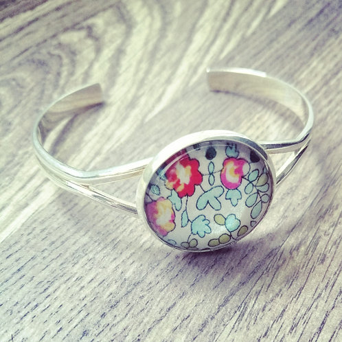 Cuff bracelet with Liberty fabric