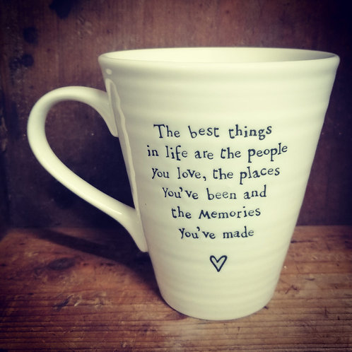 East of India porcelain mug - The best things