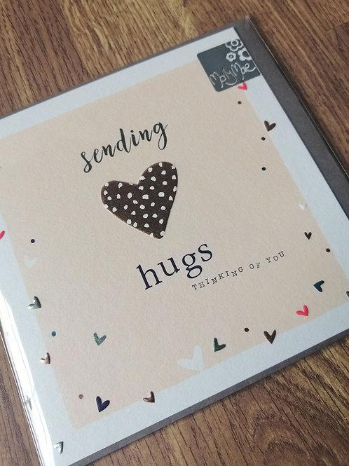 Sending hugs - Thinking of you card