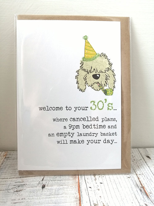 Welcome to your - Birthday card  30, 40, 60, 70 WW677