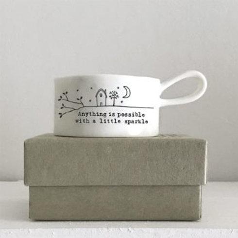 Handled tea-light holder