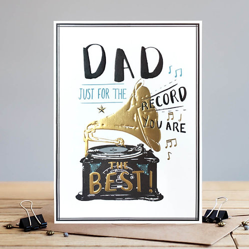Dad - Just for the record card