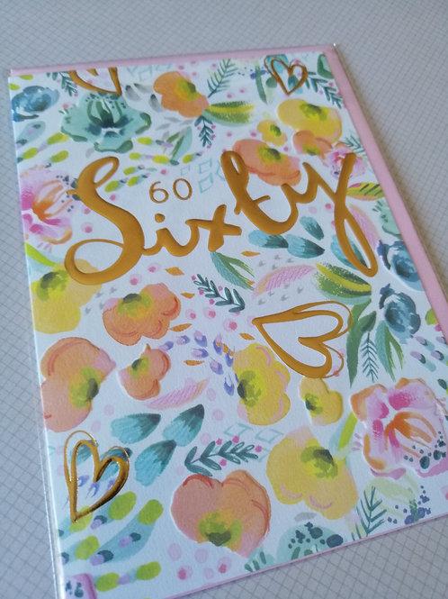 60th Happy Birthday card