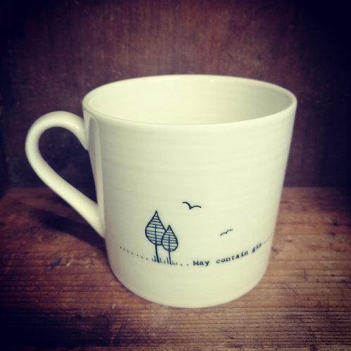 East of India porcelain mug - may contain gin