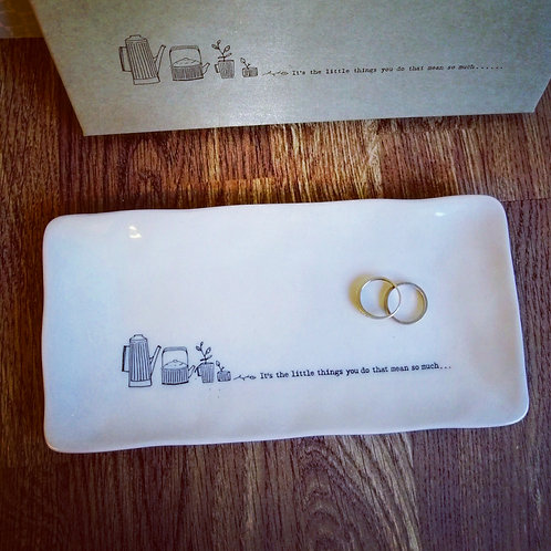 Long trinket dish - Its the little things you do