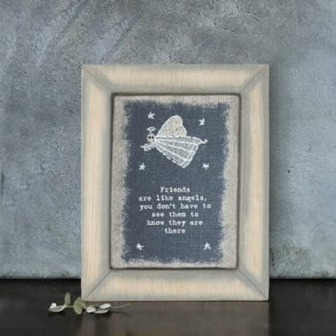 Friends are like angels - wooden embroidered box frame