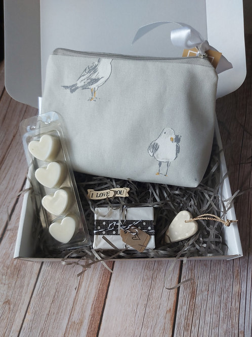Seagull  print make up bag Mother's Day Gift Box