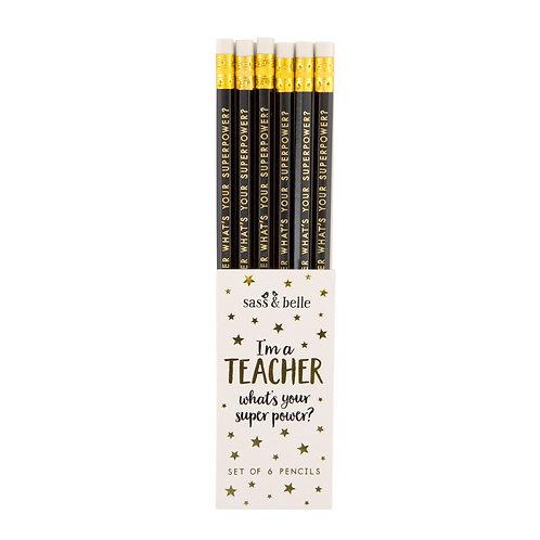What's your super power teacher pencil set