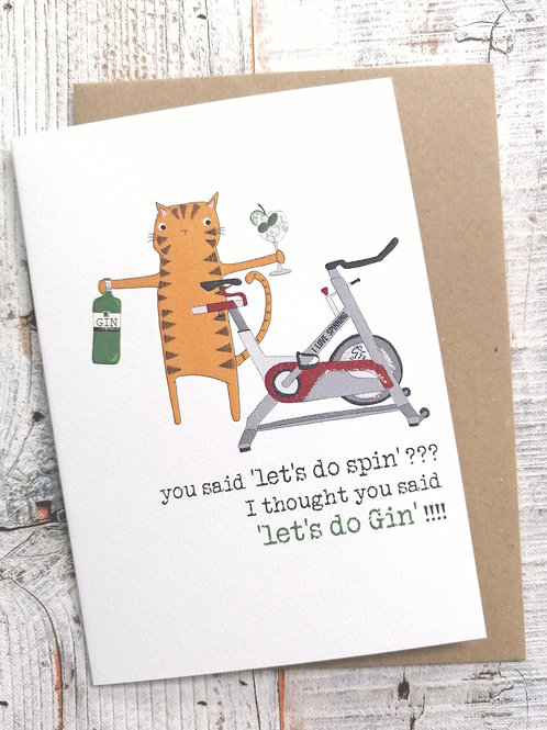 Birthday Card - Let's do spin
