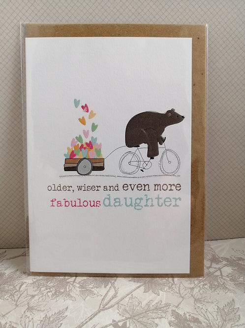 Older, Wiser, Fabulous Daughter card