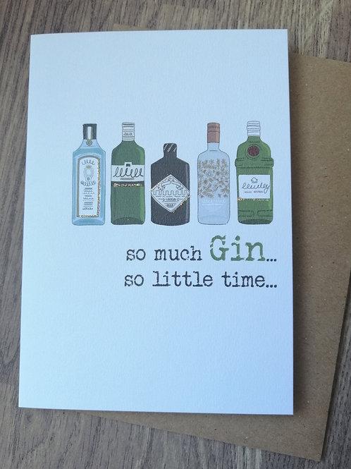 Birthday Card - so much Gin