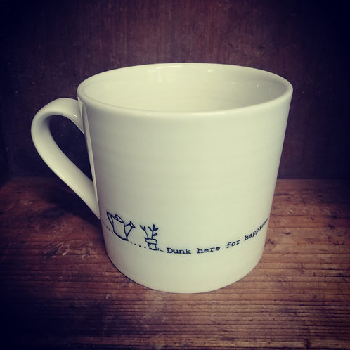 East of India porcelain mug - Dunk here for happiness