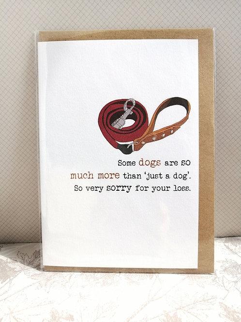 Just a dog card
