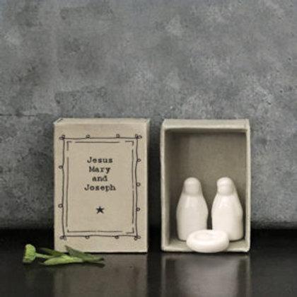 Jesus, Mary & Joseph matchbox figures