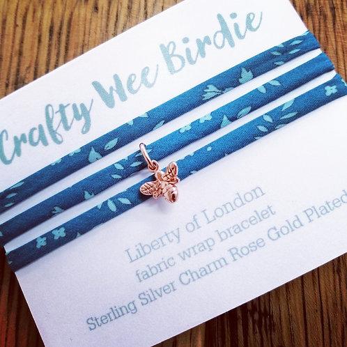 Bee Charm Wrap Bracelet