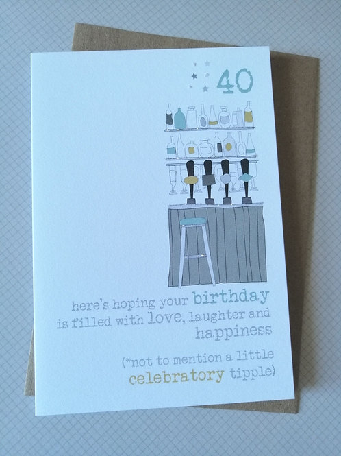 Celebratory tipple Birthday card 40, 50, 60 WW352