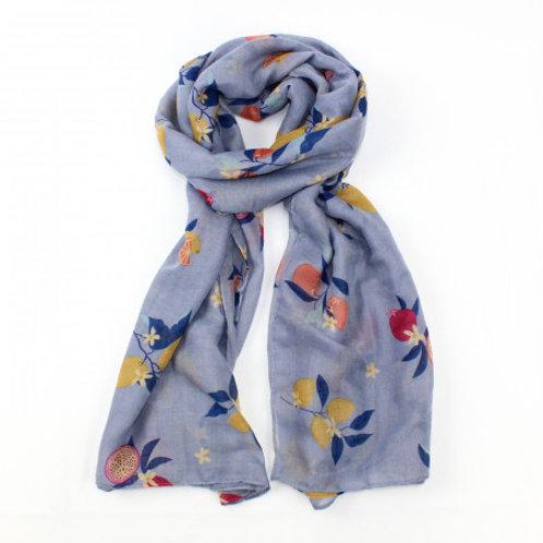 Grey fruit tree scarf
